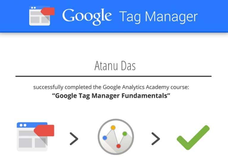 Digital Marketing Analyst Atanu Das Cert 2