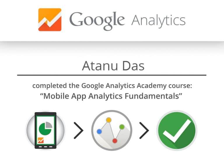 Digital Marketing Analyst Atanu Das Cert 3