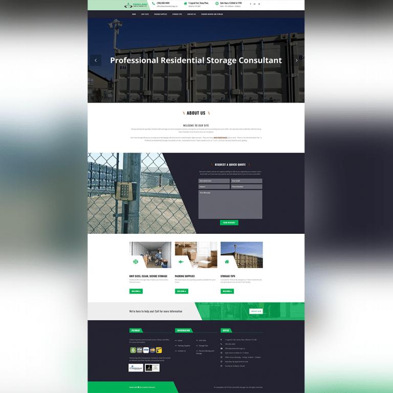 Parkland Storage Website - Atanu Das - Elementor Pro Expert