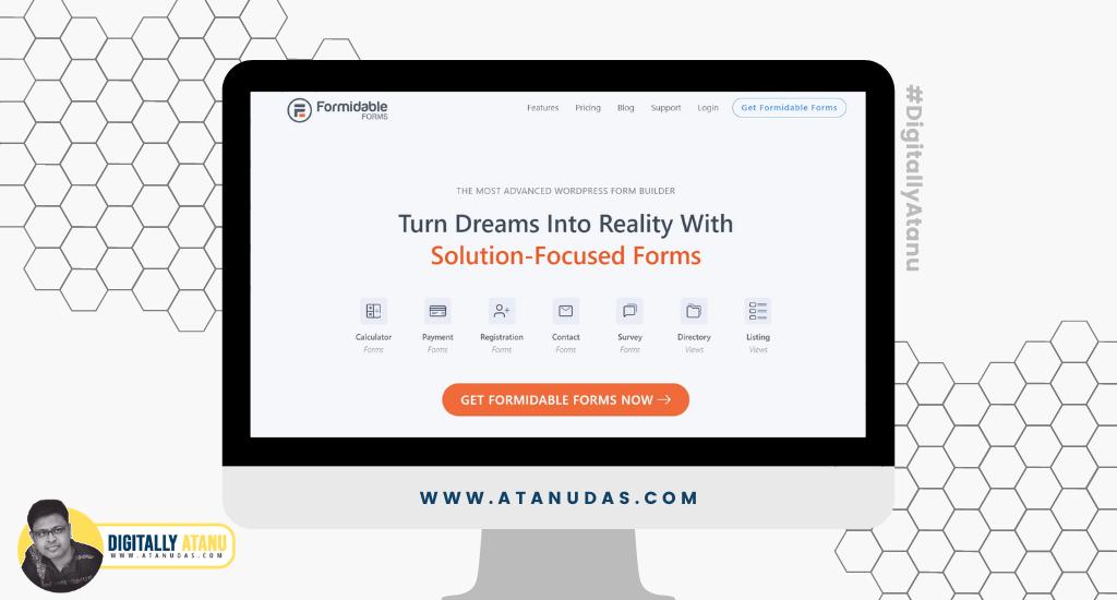 #DigitallyAtanu - Top 5 WordPress Plugins For User Registration - Formidable Forms