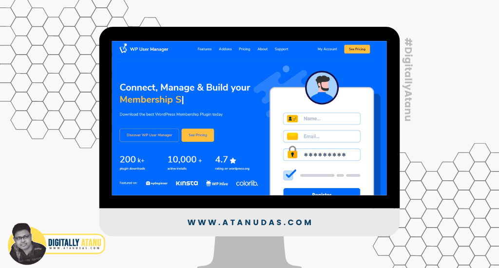 #DigitallyAtanu - Top 5 WordPress Plugins For User Registration - WP User Manager